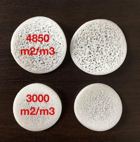Giá thể vi sinh Biochip có diện tích bề mặt tiếp xúc lớn