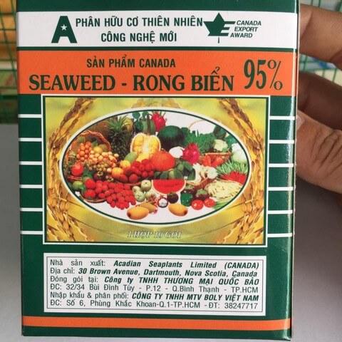 Phân bón lá rong biển là sản phẩm phân hữu cơ mới đang được ưa chuộng