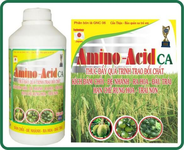 Các loại phân bón amino acid có tác dụng rất tốt với cây trồng