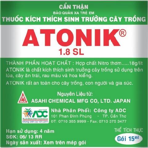 Phân bón lá Atonik là sản phẩm của Nhật thích hợp mọi loại cây trồng