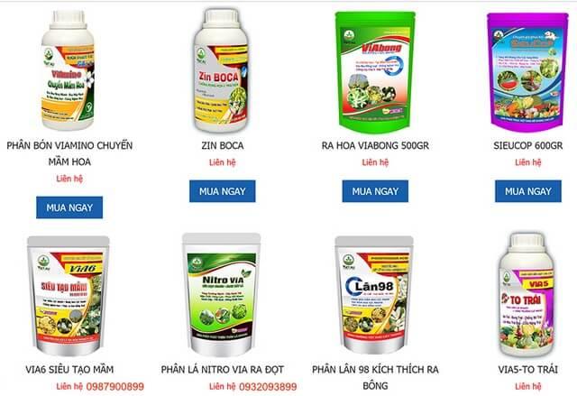 Tràn lan các trang web bán phân bón lá qua mạng