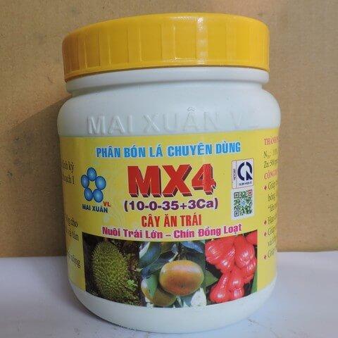 Phân bón lá MX4 chuyên dùng cho sầu riêng vào giai đoạn cây dưỡng trái