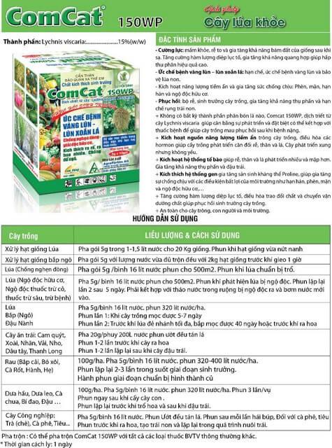 Phân bón lá Comcat mang đến nhiều lợi ích cho cây trồng