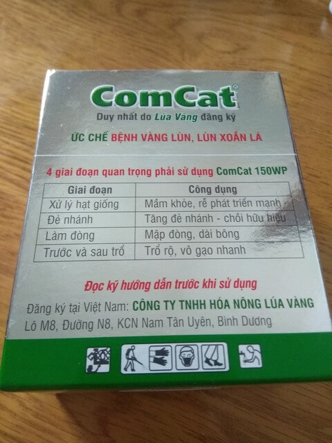 Phân bón lá Comcat được bán rộng rãi trên thị trường