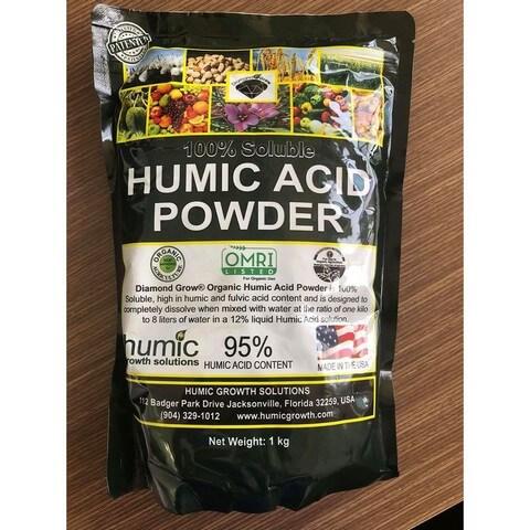 Phân bón lá humic acid Powder chứa lượng humic acid rất lớn