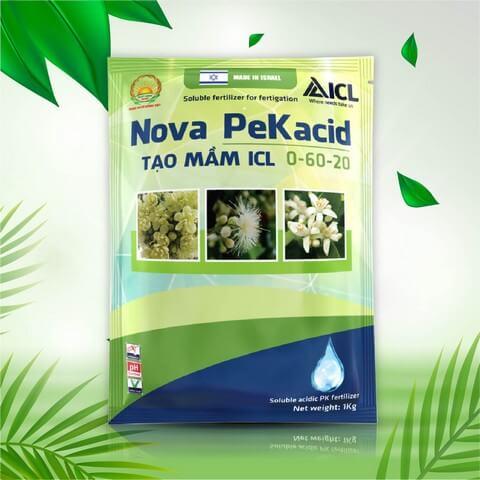 Phân bón lá Nova PeKacid chuyên dùng kích hoa cho cây ăn trái