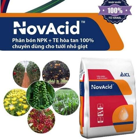 Phân bón lá Novacid làm tăng năng suất và chất lượng nông sản, trái cây thu hoạch