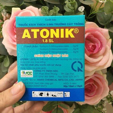 Phân bón lá kích rễ Atonik có thể pha chế thành dung dịch 18%