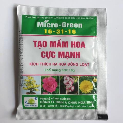 Phân bón lá Micro – Green chuyên dùng kích hoa cho hoa kiểng và cây cảnh