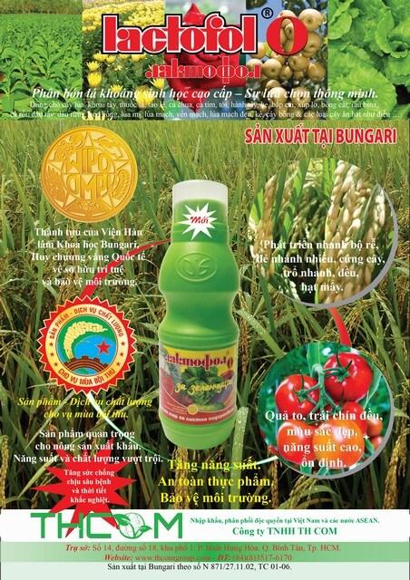 Phân bón lá Lactofol chứa nguồn dinh dưỡng dồi dào cho cây trồng
