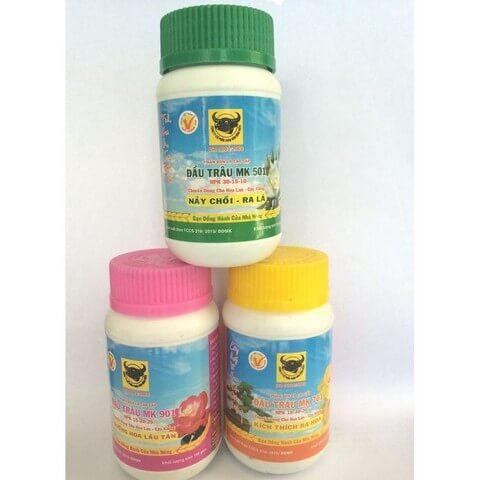 Bộ 3 sản phẩm phân bón lá Đầu Trâu dùng cho mọi giai đoạn phát triển của lan