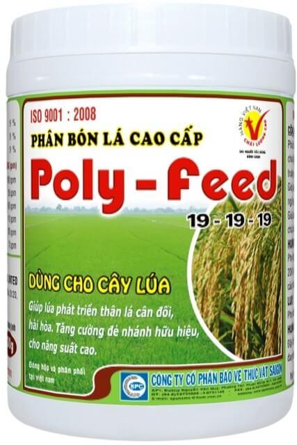 Phân bón lá Poly Feed cung cấp dinh dưỡng giúp cây lúa phát triển toàn diện