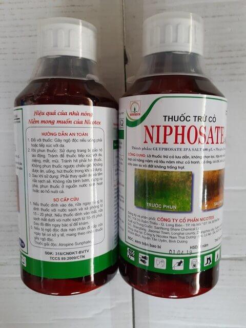 Niphosate 480SL là thuốc diệt cỏ không gây ô nhiễm đất