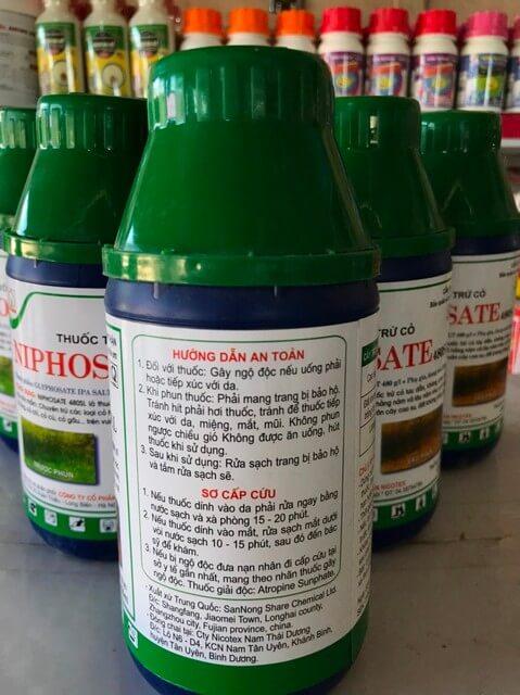 Niphosate 480SL tiêu diệt được hầu hết mọi loại cỏ dại