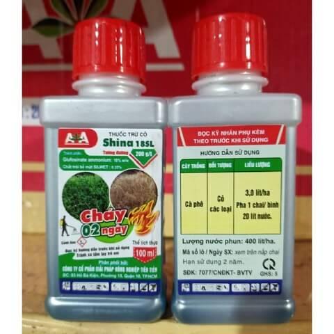 Thuốc trừ cỏ Shina 18SL có tác dụng diệt cỏ nhanh chóng