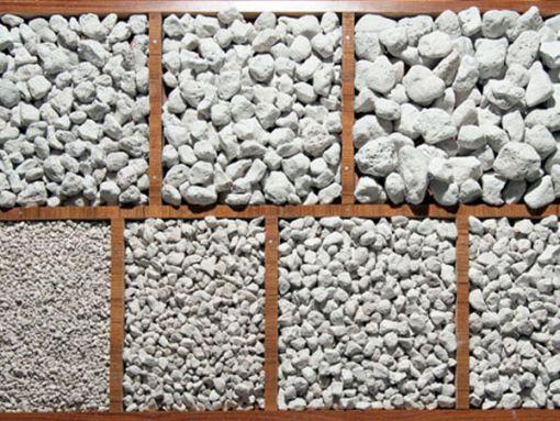 Cỡ hạt đá bọt pumice