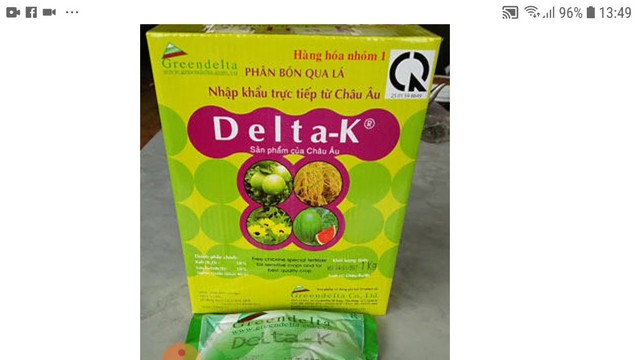 Phân bón lá Delta – K dưỡng trái to đẹp, hương vị thơm ngon