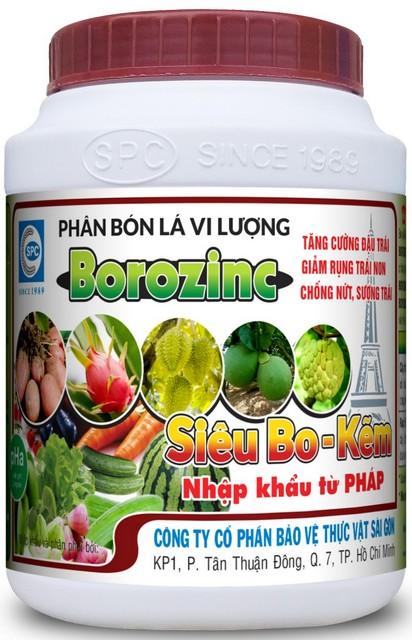 Phân bón lá vi lượng Borozinc là sản phẩm chất lượng nhập khẩu Pháp