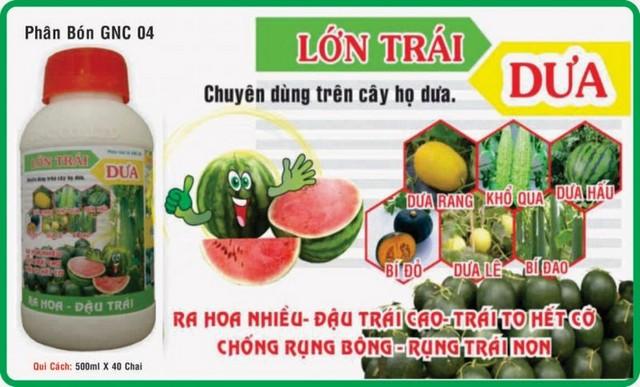 Phân bón lá GNC 04 chuyên dùng dưỡng trái thanh long, cây họ dưa