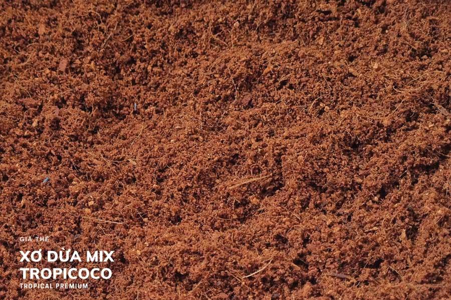 nguyên liệu sản xuất đất sạch đóng bao: xơ dừa